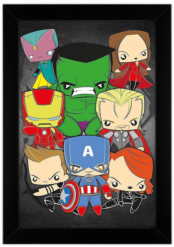 Quadro Avengers by Toonicos