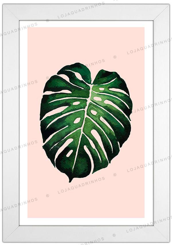 Quadro Minimalista Vert (Quadro Costela de Adão) - Coleção Botanique