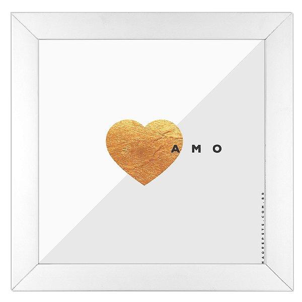 Quadro Me Amo by Guid - Não Repete - branco