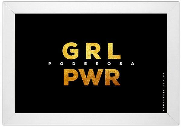 Quadro GRL PWR by Guid - Não Repete - preto