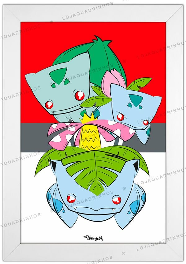 Quadro Pokémon Bulbasaur by Toonicos