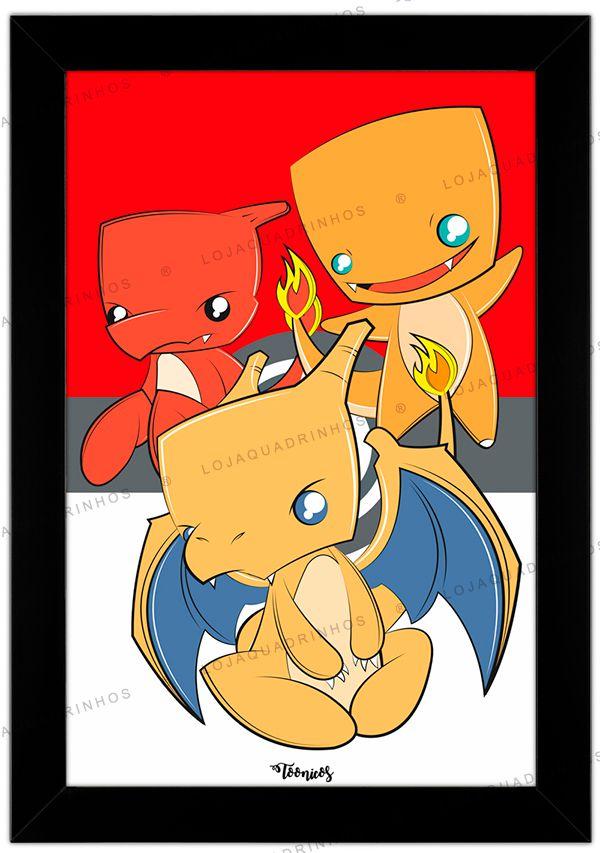 Quadro Pokémon Charmander by Toonicos