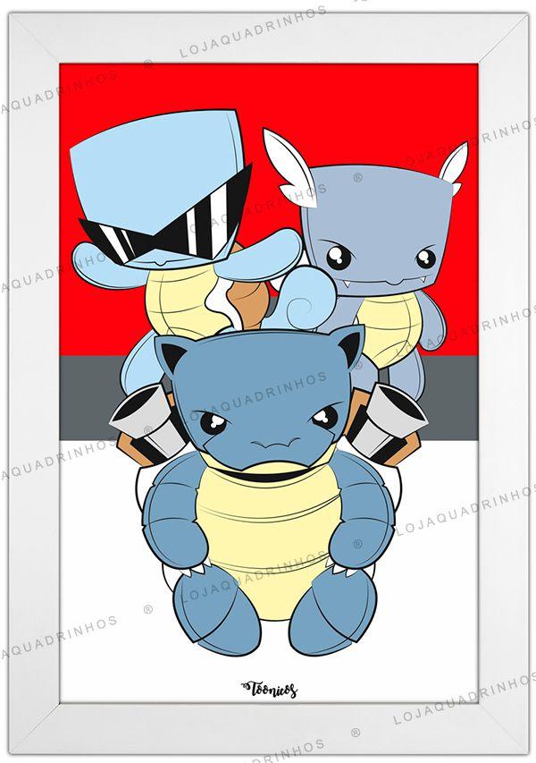 Quadro Pokémon Squirtle by Toonicos