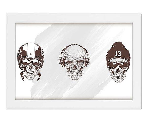 Quadro de Caveira Old Skull