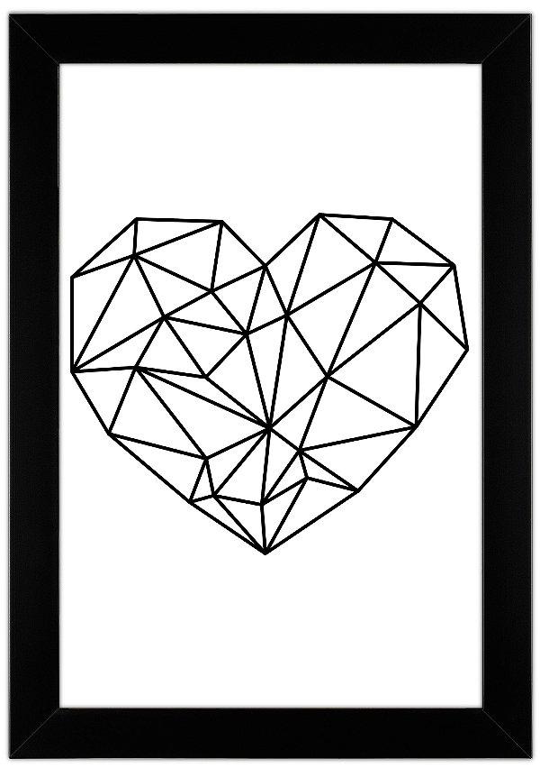 Quadro de Coração Minimalista