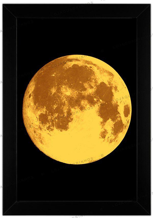 Quadro Minimalista de Lua