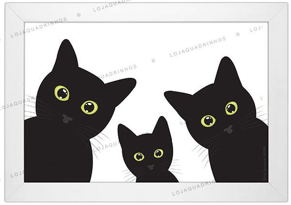 Quadro de Gato - Retrato de Família