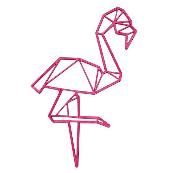 Flamingo Decorativo Minimalista 3D