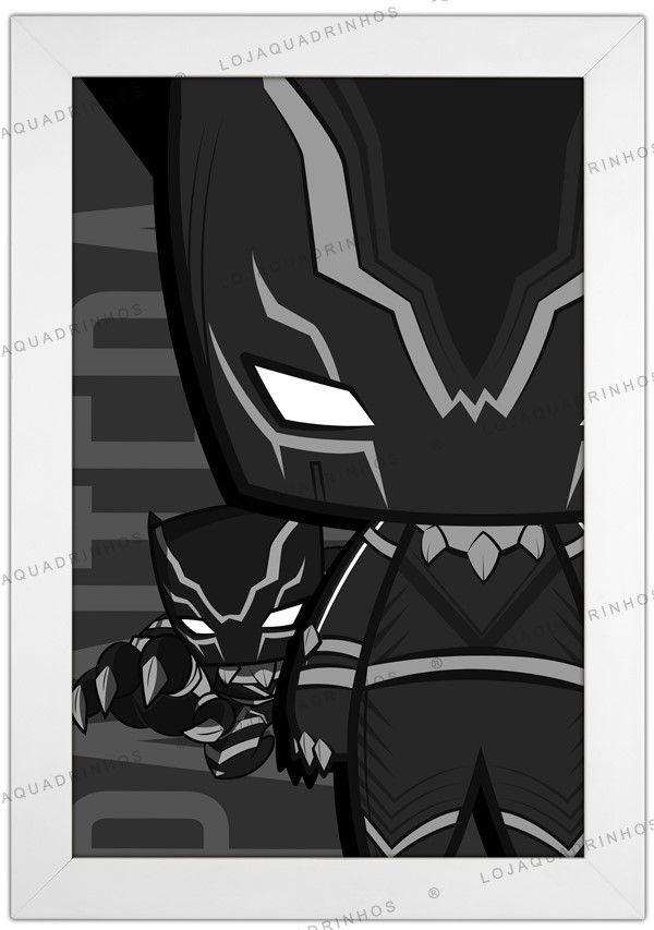 Quadro Pantera Negra