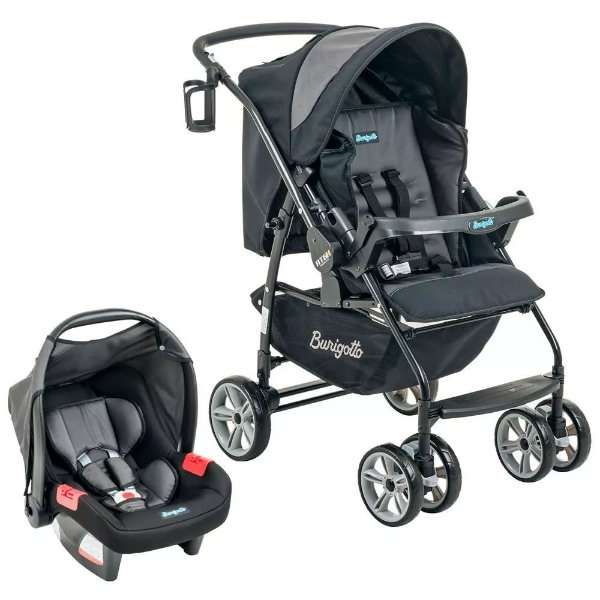 Carrinho de Bebê com Bebê Conforto AT6 K Burigotto