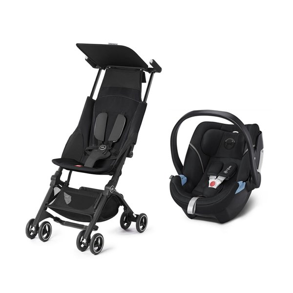 Carrinho de Bebê Pockit + Plus GB com Bebê Conforto Aton 5 Cybex