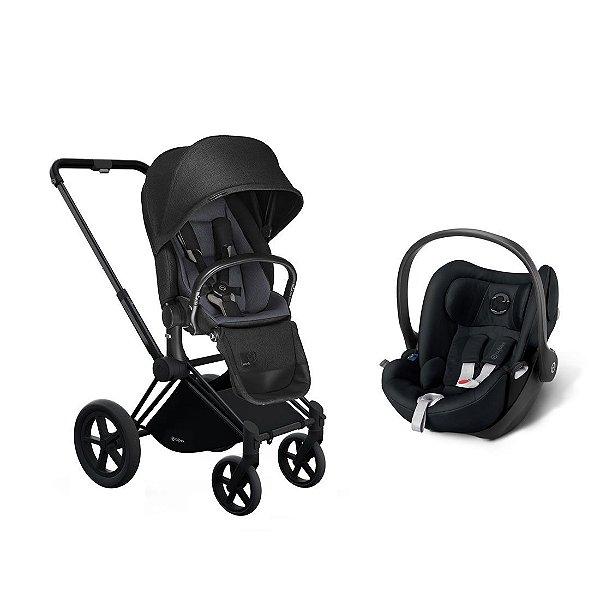 Carrinho Priam Stardust Black com Bebê Conforto Cloud-Q Cybex