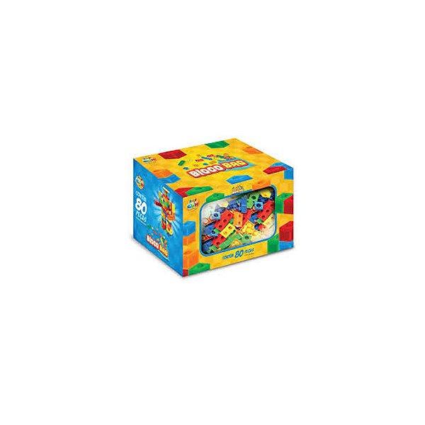 Brinquedo de Montar Bloco Bag GGBPlast 80 Peças