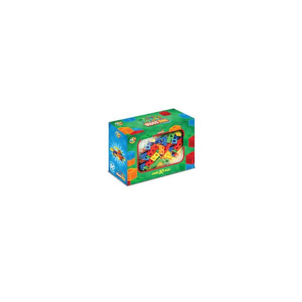 Brinquedo de Montar Bloco Bag GGBPlast 50 Peças