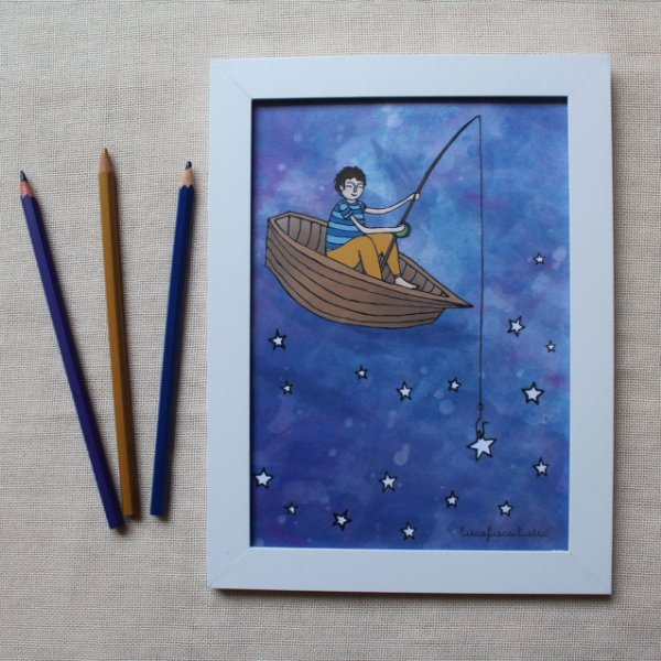 Quadrinho O Pescador de estrelas