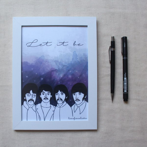 Quadrinho Beatles - Let it be