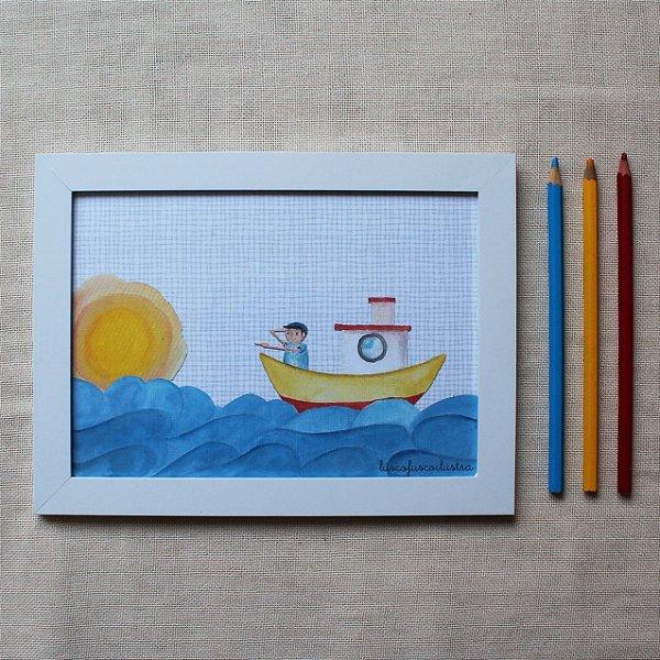 Quadrinho Aventura em alto-mar