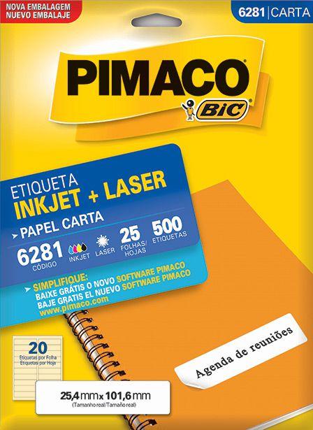 Etiqueta Inkjet/Laser Carta 6281 Pimaco