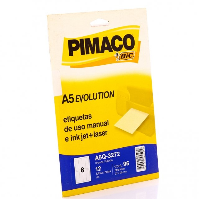 Etiqueta Inkjet/Laser A5Q-3272 Pimaco