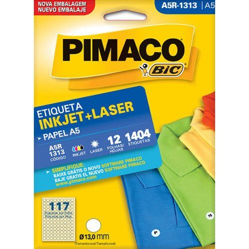 Etiqueta Inkjet/Laser A5Q-1313 Pimaco
