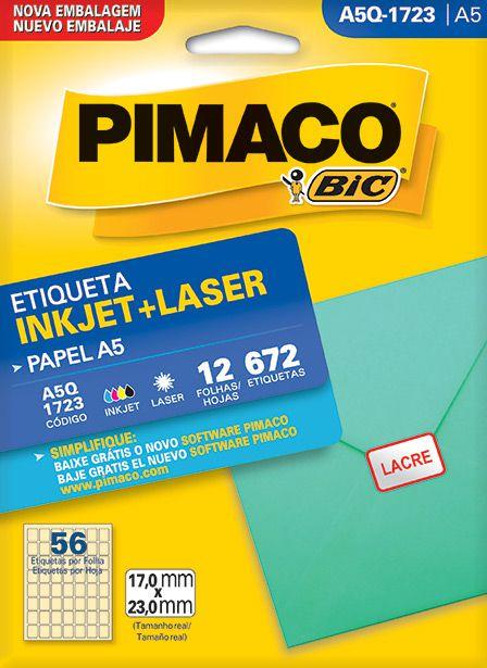 Etiqueta Inkjet/Laser A5Q-1723 Pimaco