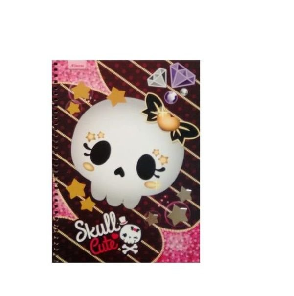 Caderno Universitário 10x1 Skull Cute Foroni