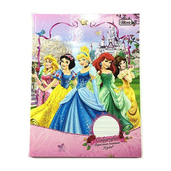 Caderno Brochura Universitario Caligrafia Capa Dura 40 Folhas Princesas R.134201 Tilibra