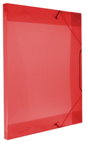 Pasta Com Aba Elástico Ofício 18mm Vermelha R.160307 Polibras