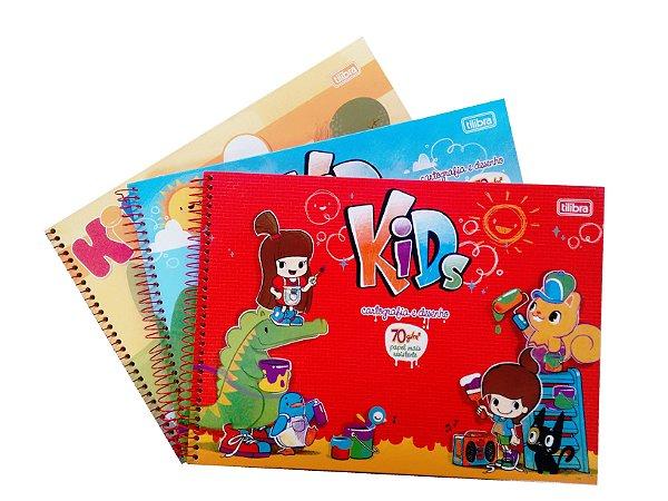 Caderno Cartografia E Desenho 80 Folhas Kids R.118915 Tilibra