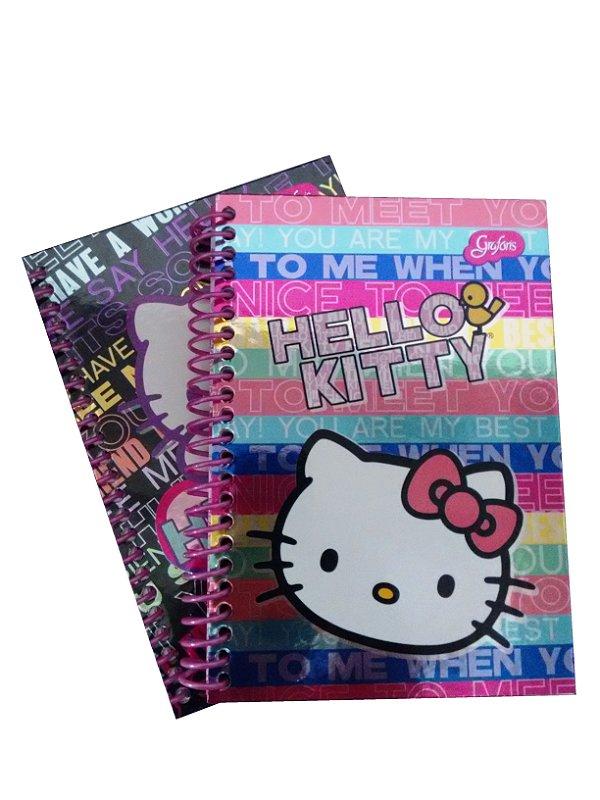 Caderno Espiral 1/4 96 Folhas Hello Kitty R.288802 Grafons