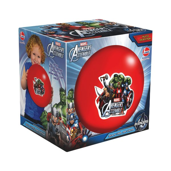 Bola De Vinil Na Caixa Avengers Marvel R.2069 Líder