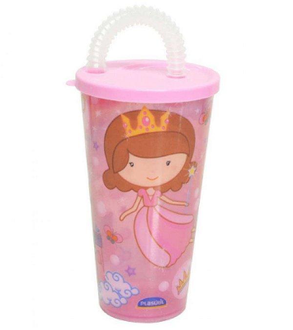 Copo Com Canudo 430ml Baby Princess R.7090 Plasutil