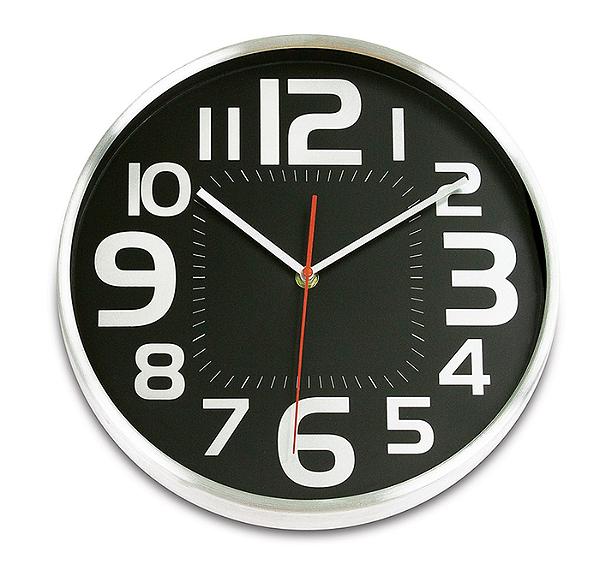 Relógio de Parede Numbers 30cm Ricaelle EG7764B-CU1