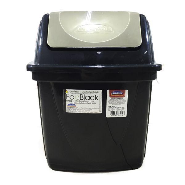 Lixeira De Pia Basculante Ecoblack 6,5 Litros R.3484 Plasutil
