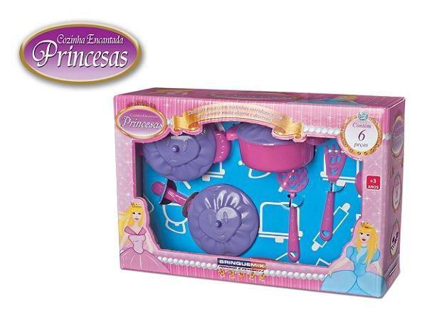 Cozinha Encantada Das Princesas Com 6 Peças Brinquemix CEP085