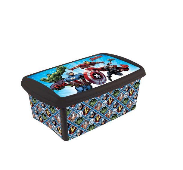 Caixa Organizadora Vingadores 4,2 Litros Plasútil 3217