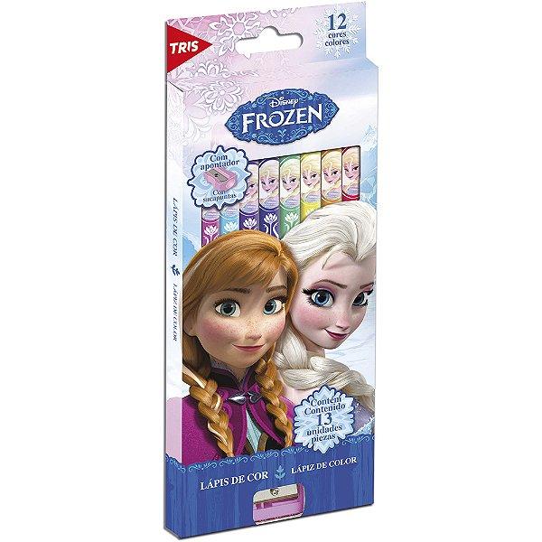 Lápis De Cor 12 Cores Frozen R.679143 Tris