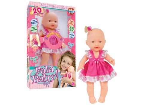 Boneca Fala Baby R.385 Sid Nyl