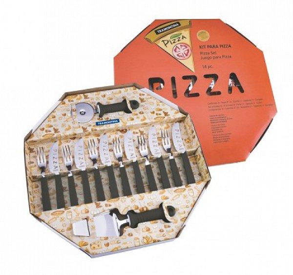 Kit Para Pizza 14 Peças R.25099/022 Tramontina