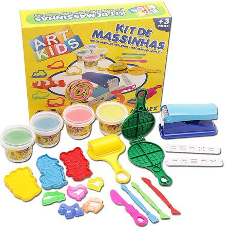 Kit De Massinha De Modelar 6 600gr Acrilex 40006