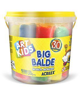 Kit Massinhas Big Balde 30 Cores 1,5KG R.40023 Acrilex