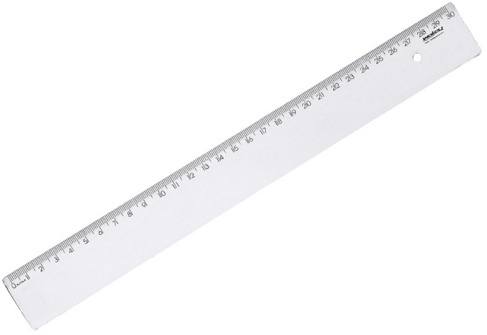 Régua New Line 30cm Cristal Waleu 310