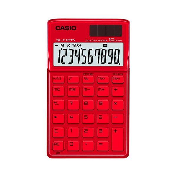 Calculadora De Bolso Vermelha Casio SL-1110TV-RD