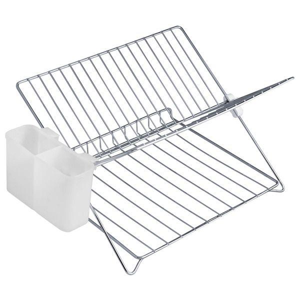 Escorredor de Louça Dobravel Com Porta Talheres de Plastico R.1079 Arthi