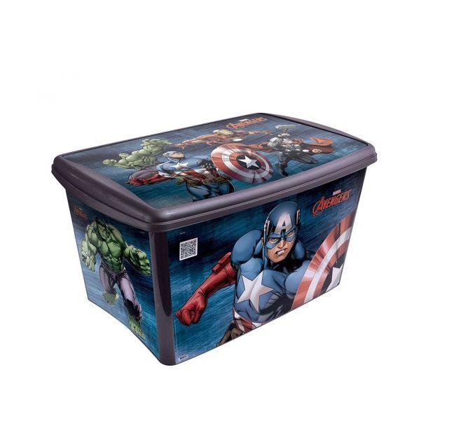 Caixa Organizadora Os Vingadores 46 Litros R.6526 Plasutil