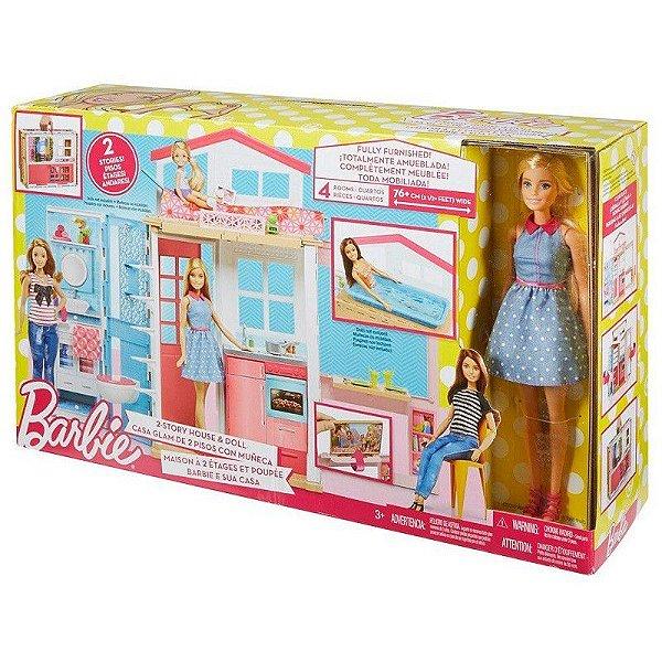 Barbie Real Casa Com Boneca DVV48 Mattel