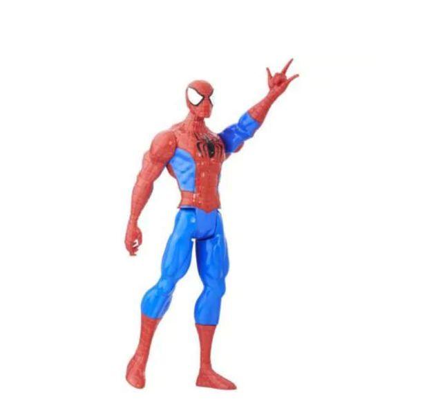 "Boneco Homem Aranha Figura Titan 12"" B9760 Hasbro"