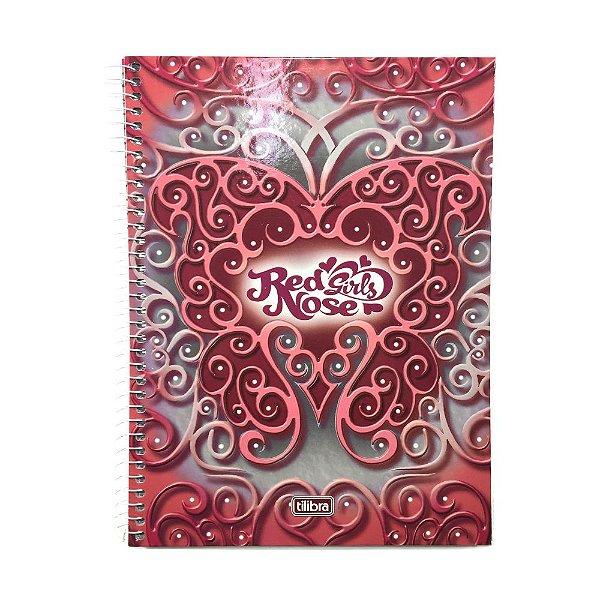 Caderno Universitário 1x1 Red Nose Girls R.110990 Tilibra