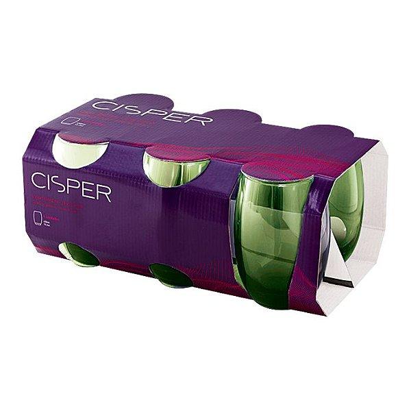 Jogo de Copos 6 Peças Bellize Long Drink 450ml R.TW832-32 Verde Cisper