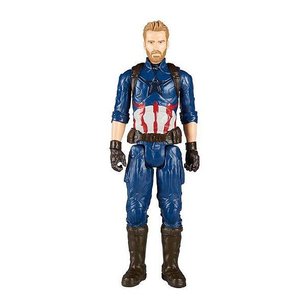 Boneco Avengers Titan Capitão America Guerra Infinita E1421 Hasbro